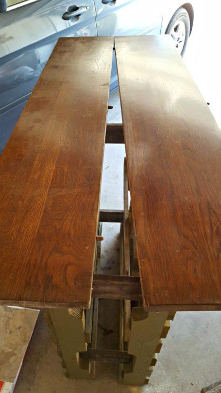 diy wood bar table