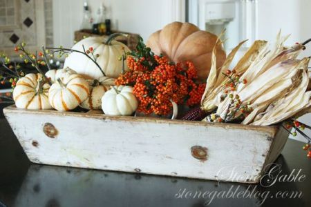 fall rustic wood box