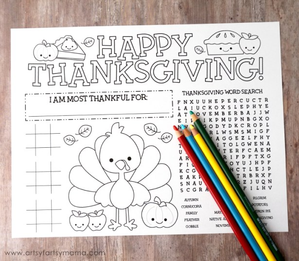 thanksgiving activity page