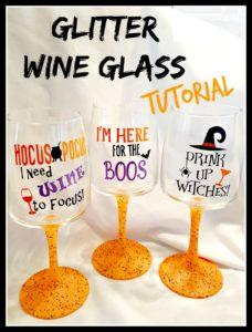 glitter wine glass tutorial