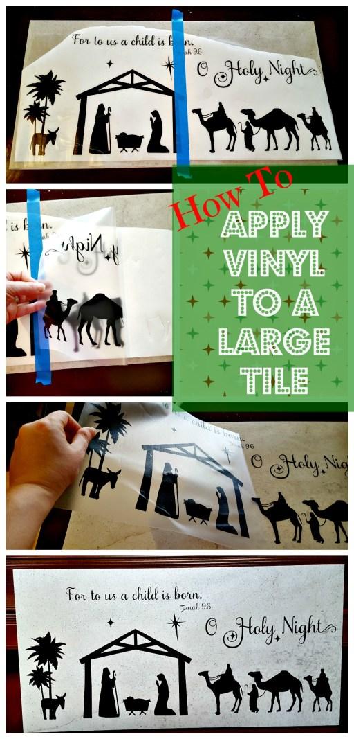 applying vinyl to large tile