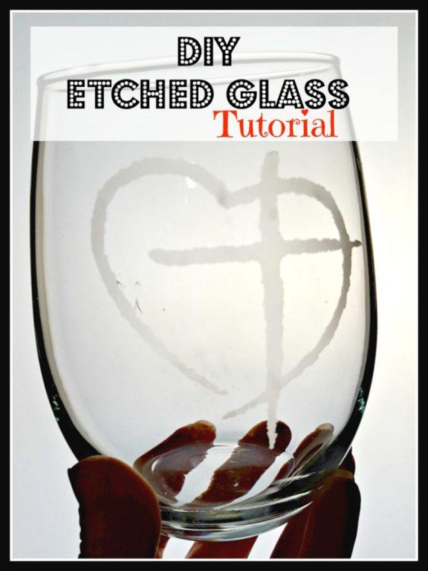 etched wine glasses diy