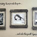 diy farmhouse picture frame tutorial