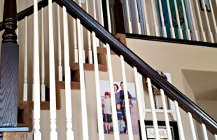 DIY Banister Makeover Tutorial