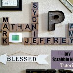 DIY Scrabble Tiles Tutorial