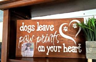 DIY Dog Sign with Photo