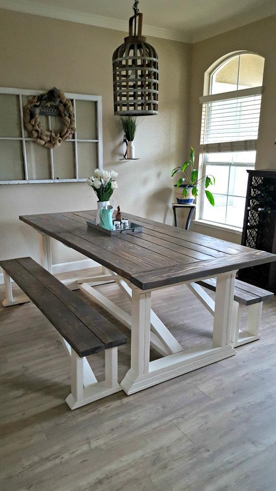 Rustoleum weathered grey table