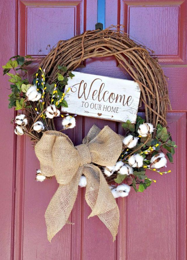 DIY grapevine spring wreath tutorial