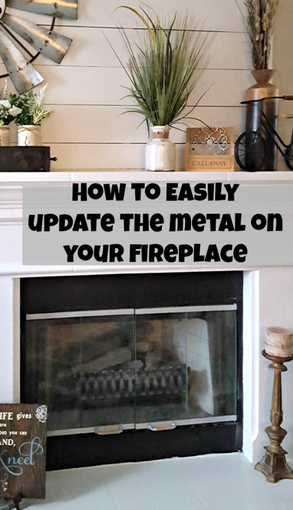 DIY brass fireplace makeover