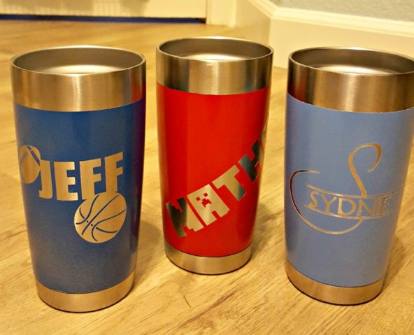 how to paint a yeti or ozark stainless steel mug