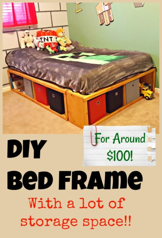 DIY Bed Frame with storage Ana White