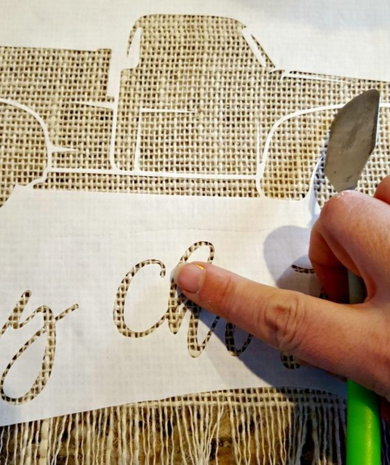 diy freezer paper stencil tutorial