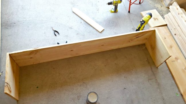 diy full bed frame with storage ana white