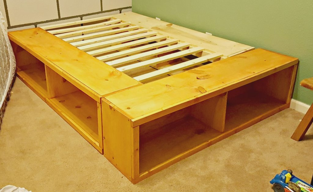 Full Size Bed Frame Storage