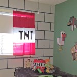 DIY Minecraft Bedroom Block Wall