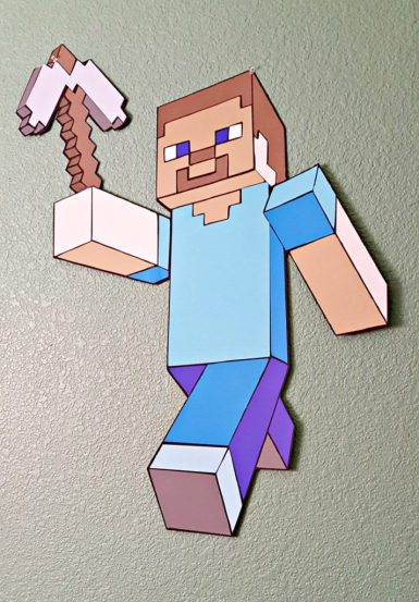 DIY Large Minecraft Characters