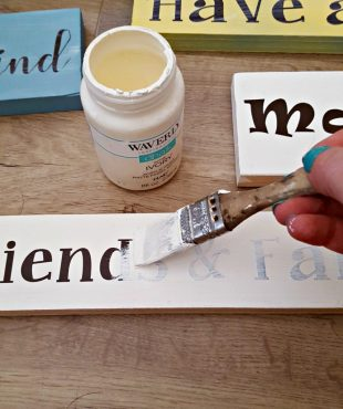DIY how to make wooden signs with quotes