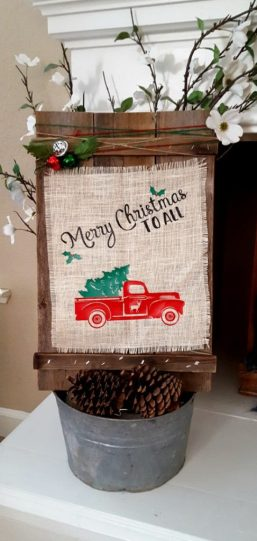 DIY farmhouse Christmas decor