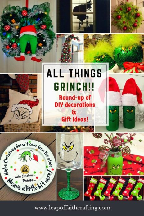 so if you are a grinch lover too i hope you get some inspiration from these pictures as you scroll through the grinch crafts and diy decorations round up - The Grinch Themed Christmas Decorations