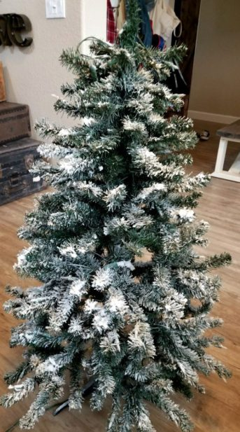 how to flock a tree - Flocked Real Christmas Tree