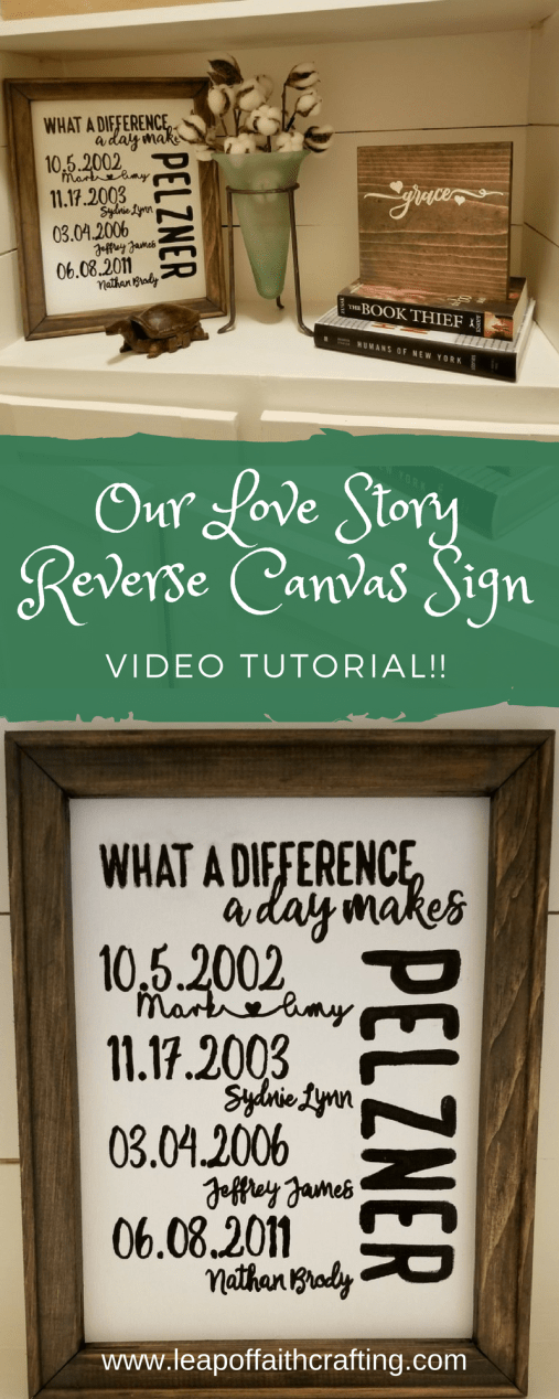 our love story sign diy