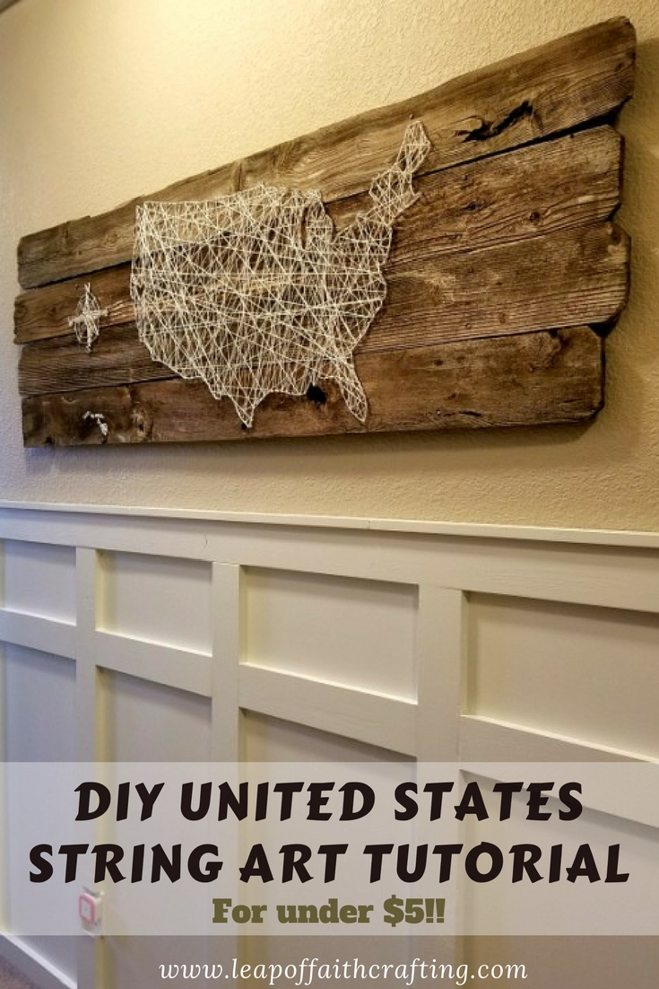 reclaimed-wood-wall-art-diy & Thrifty and Easy DIY United States String Art! - Leap of Faith Crafting