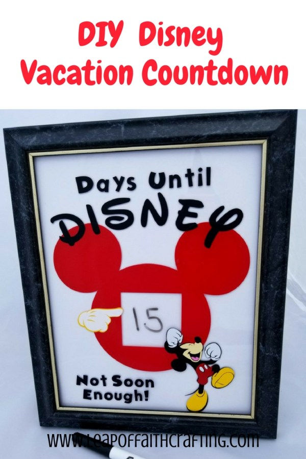 disney countdown ideas pin