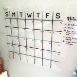 Acrylic Wall Calendar DIY with FREE Cut File!