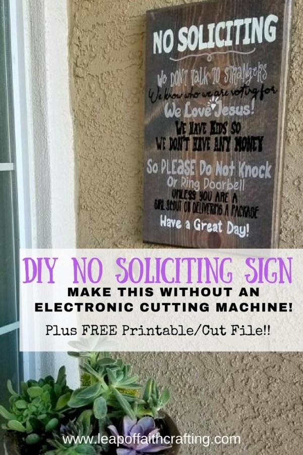 diy no soliciting sign