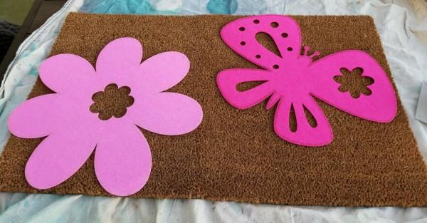 diy outdoor welcome mats