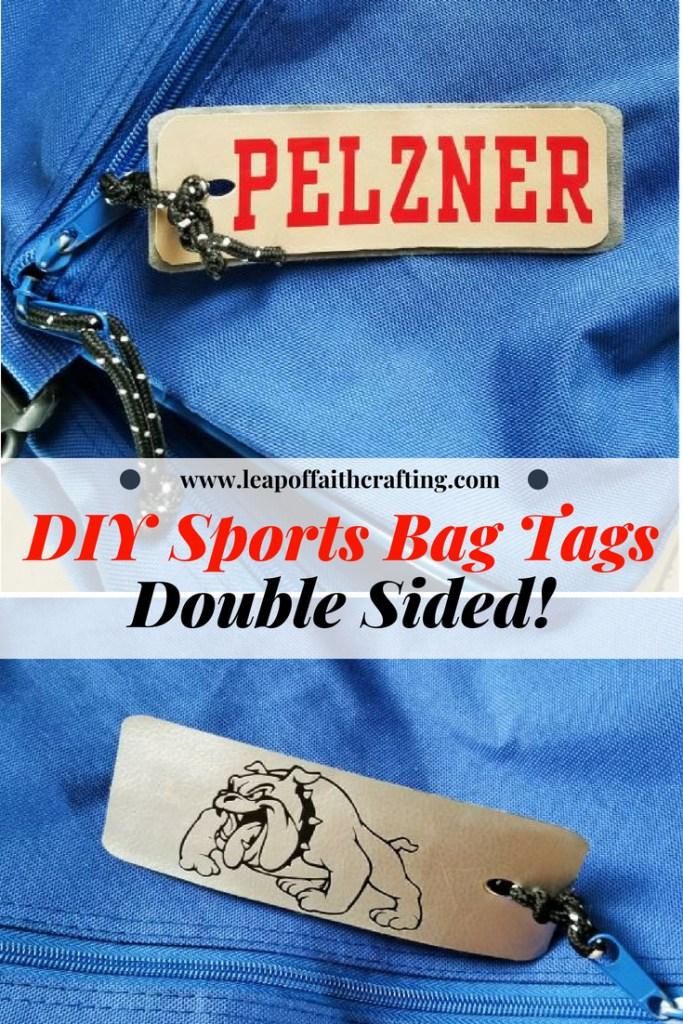 sports bag tags pin