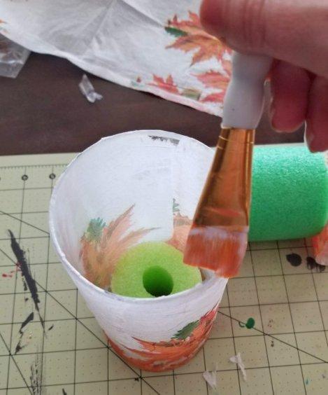 decoupage glass tutorial