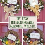 interchangeable seasonal wreath pin