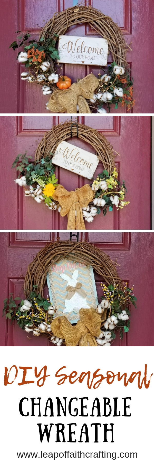 seasonal interchangeable wreaths