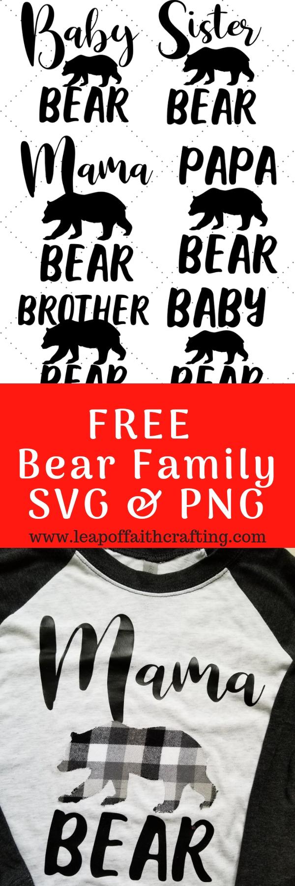 bear svg pin
