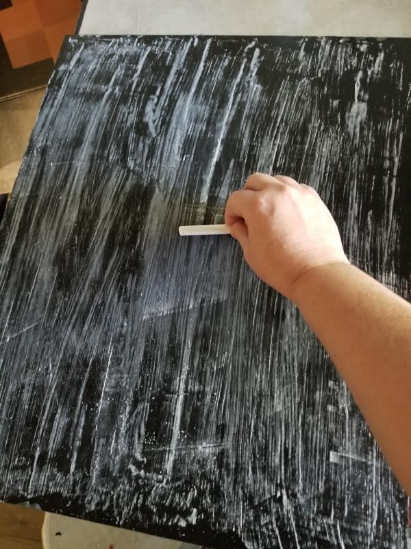chalkboard paint on glass