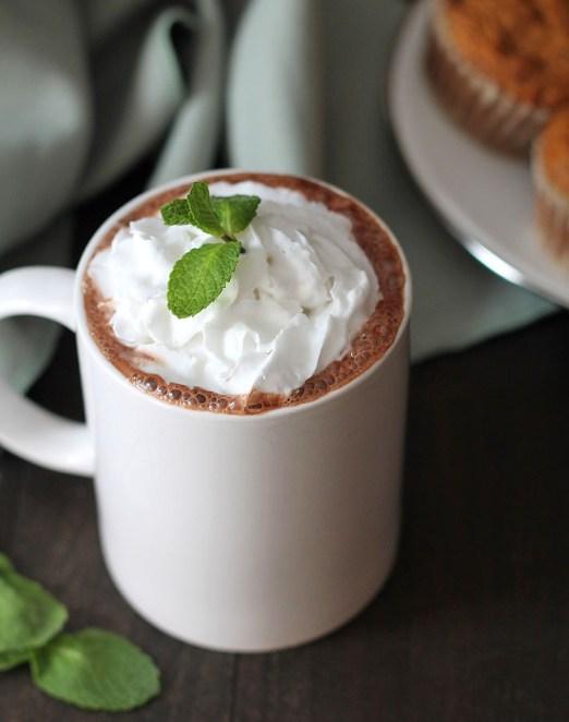 decadent vegan peppermint hot chocolate recipe