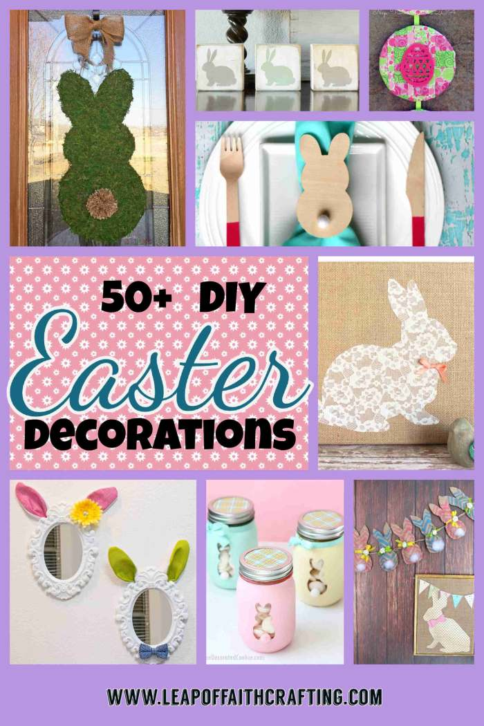 Cute DIY Easter Decoration Ideas for Home  Leap of Faith Crafting