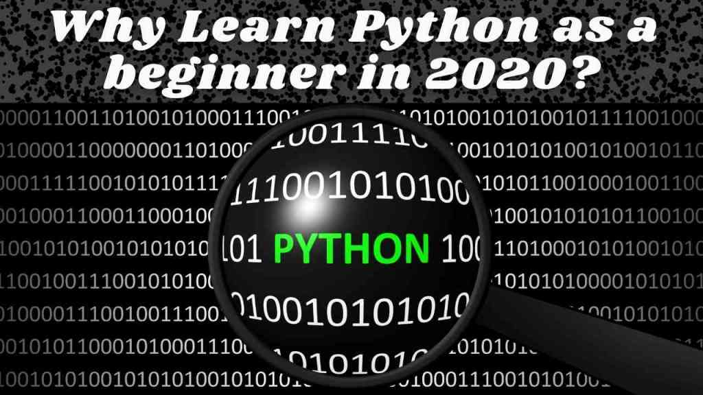 Why Learn Python as a beginner in 2020?