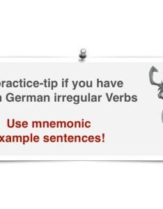 Irregular verbs mnemonic sentenses also learn german smarter rh