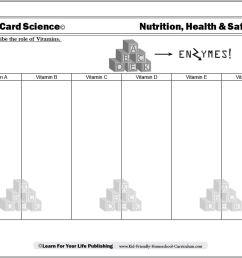 Vitamins And Minerals Worksheet - Worksheet List [ 824 x 1067 Pixel ]