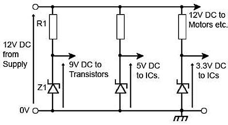 Zener Shunt Regulator Circuit Zener Voltage Circuit Wiring