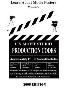 US Movie Studio Production Codes Book