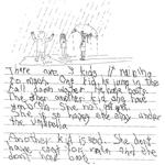 Grade 1 Level 3 Writing Sample