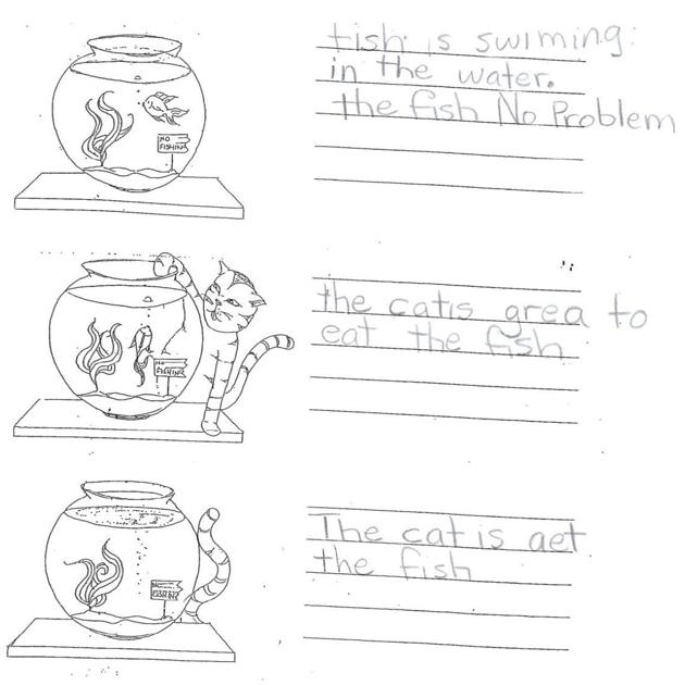 Grade 2 Level 1 Writing Sample