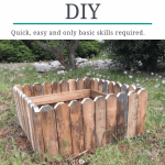 How To Build A Cheap Raised Garden Bed Diy Rustic Garden Bed Learn Along With Me