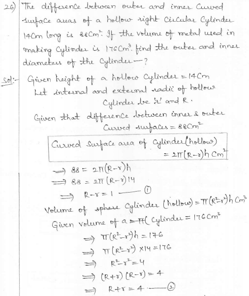 RD Sharma Class 10 Solutions Surface areas and Volumes Ex 16.1 Q26