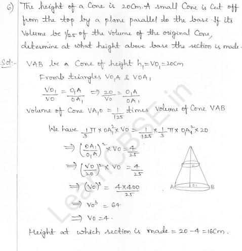 RD Sharma Class 10 Solutions Surface areas and Volumes Ex 16.3 Q6