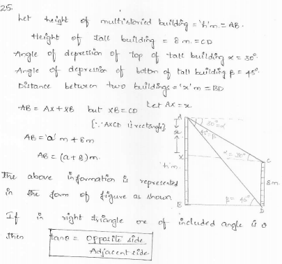 RD-Sharma-class 10-maths-Solutions-chapter 12 - Applications of Trigonometry -Exercise 12.1 -Question-25