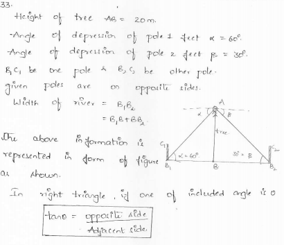RD-Sharma-class 10-maths-Solutions-chapter 12 - Applications of Trigonometry -Exercise 12.1 -Question-33